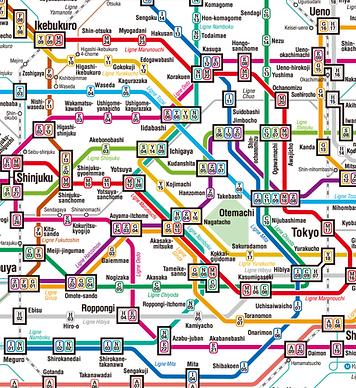 plan métro Tokyo
