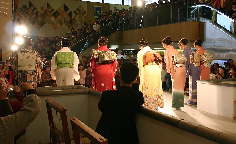 nishijin textile center kimono show