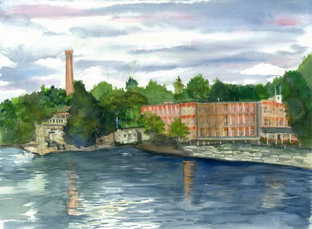Chace Mill - across the river.... my daily view