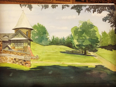 Watercolor Exploration Day 5 - Shelburne Farms