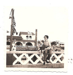 Playas -- Mother, me and the Israeli flag at the Hotel Humboldt.jpg.jpg