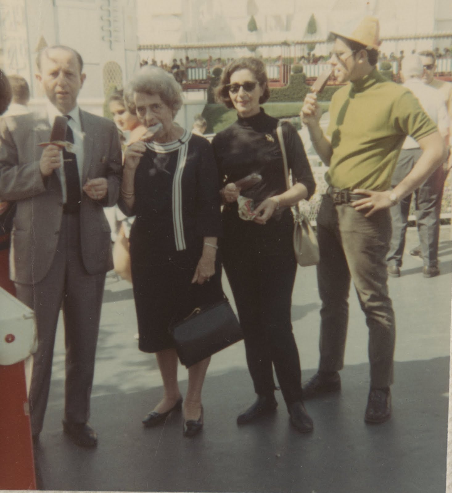 From left_  Erwin Gumpel, Lieschen Gumpel, Gerda Sifnaghel and Niko Sifnaghel