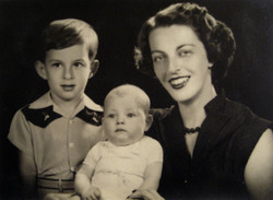 From left_ Fred Grunewald, Peggy Grunewald, and Ilse Grunewald (nee Koppel) -- 1953, Guayaquil