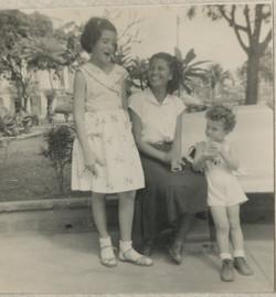 From left_  Katja Sifnaghel, Rosa (_la muchacha_), and Niko Sifnaghel -- Guayaquil