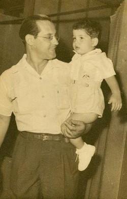 Heinz Grunewald and son, Ralph -- 1957, Guayaquil