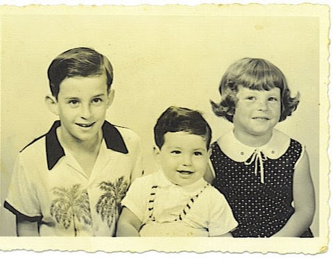Fred, Ralph, and Peggy Grunewald -- 1956, Guayaquil