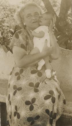 Lieschen Gumpel with her grandson, Niko Sifnaghel-- ca.jpg