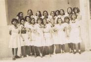 My sister, Eveline Cohn, as a girl scout in Guayaquil.jpg  She is the third on the first row.jpg