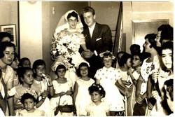 Matrimonio Rama y Moshe Rubin; y Peggy, Vivi, Nury, Monica