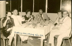 Else Wellisch (nee Deller), Ernst Wellisch, Magda (Moschi) and John Koppel, Cati Cohn, and Helmut We
