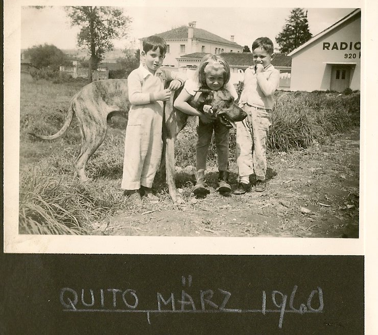 Ralph Grunewald (left) -- 1960, Quito