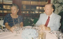 From left_  Dita Gumpel (nee Ginsberg) & Erwin Gumpel -- (undated)
