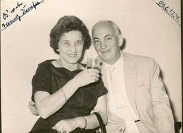 Magda (Moschi) and John Koppel at Danny Kaufman Bar Mitzvah -- 1957, Guayaquil