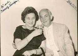 Magda (Moschi) and John Koppel at Danny Kaufman Bar Mitzvah -- 1957, Guayaquil
