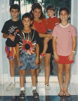 Counsins -- From left_  Misha Lindenberg, Adam Shefer, Orit Shefer, Daniel Shefer & Dania Lindenberg