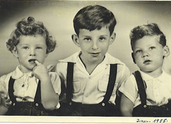 Peggy Grunewald, Fred Grunewald, and Tom Koppel (cousins) -- 1955, Guayaquil