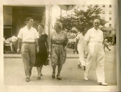 From left_  Gert Koppel, Magda (Moschi) Koppel (nee Partos), Elisabeth (Lieschen) Gumpel (nee Partos