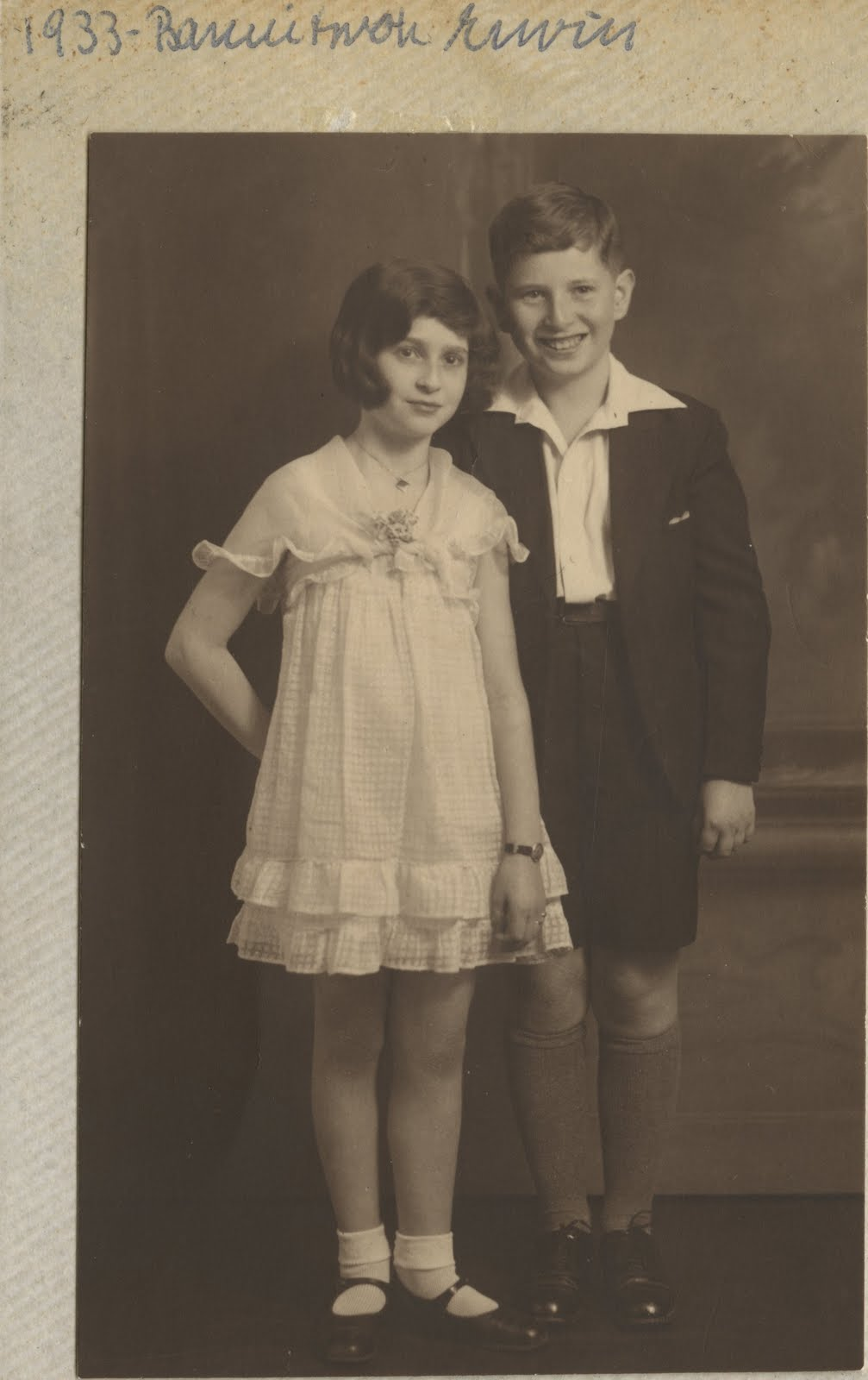 Gerda and Erwin Gumpel -- Erwin Gumpel's Bar Mitzvah -- 1933, Hamburg, Germany
