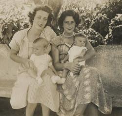 Ilse Grunewald holding her son, Fred and Gerda Sifnaghel holding her son, Niko -- ca.jpg