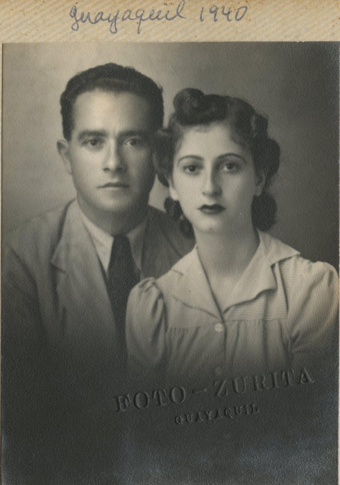 Manea Sifnaghel and Gerda Gumpel -- 1940, Guayaquil