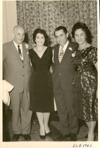 From left_ John Koppel, Ruth & Alfred Czarninski, Magda Koppel -- August 26, 1961, Guayaquil