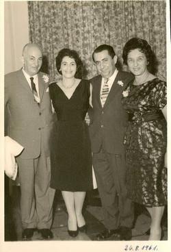 From left_ John Koppel, Ruth & Alfred Czarninski, Magda Koppel -- August 26, 1961, Guayaquil