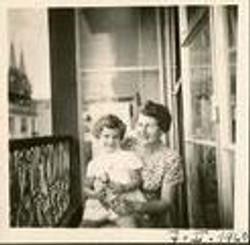 Else Wellisch (nee Deller) with grand-daughter, Jeanny Koppel -- 1960, Guayaquil
