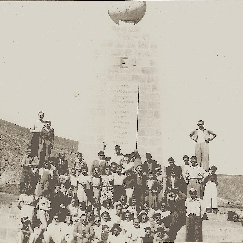 Maccabi Quito club at the Equatorial Monument -- (undated)