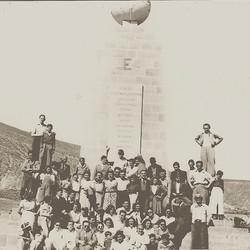 Maccabi Quito club at the Equatorial Monument -- (undated)