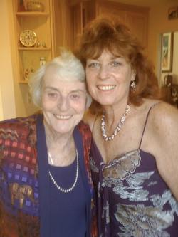 From left_  Ilse Grunewald & daughter, Peggy Ratner (nee Grunewald) -- 2008, San Diego, CA