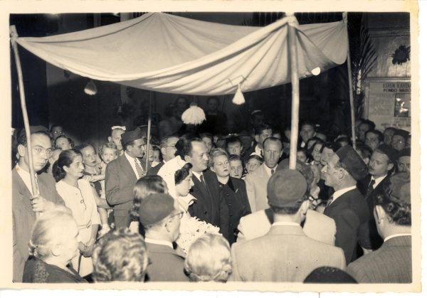 INGE AND ARTURO FISCHLER'S WEDDING  [Subsequently, John Rosenthal wrote on Jan.jpg