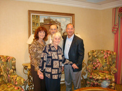 Ilse Grunewald (nee Koppel) with her children_ Peggy Ratner, Fred and Ralph -- 2009, San Diego, CA