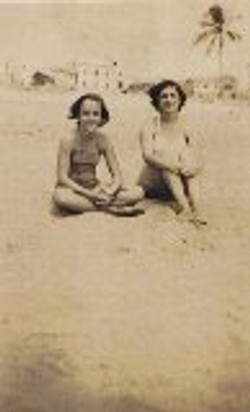 My sister, Eveline, and me in Playas, about 1948.jpg