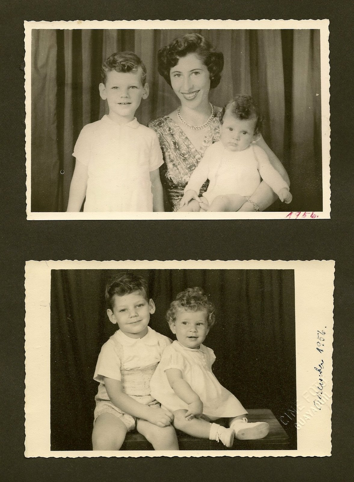 Edith Koppel (nee Wellisch) and her children Tom and Jenany --- 1956, Guayaquil