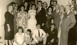 Wedding of Andy Lakatos and Katja Sifnaghel_ from left_ Elisabeth (Lieschen) Gumpel (nee Partos); Ge