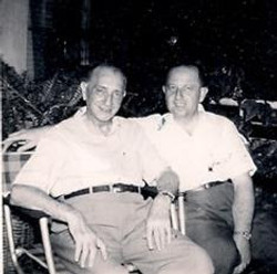 Gustav Gumpel (left) and his son, Erwin Gumpel -- (undated)