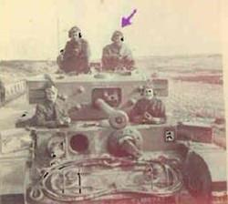 Tank of the Czech Brigade_ Enrique Schwarzkopf (arrow), a JOE that returned to fight in WWII from Ec