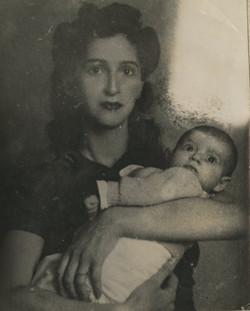 Gerda Sifnaghel and daughter, Katja -- November 1941