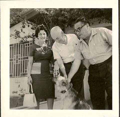 From left_ Magda and John Koppel & Manea Sifnaghel -- 1962