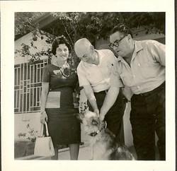From left_ Magda and John Koppel & Manea Sifnaghel -- 1962