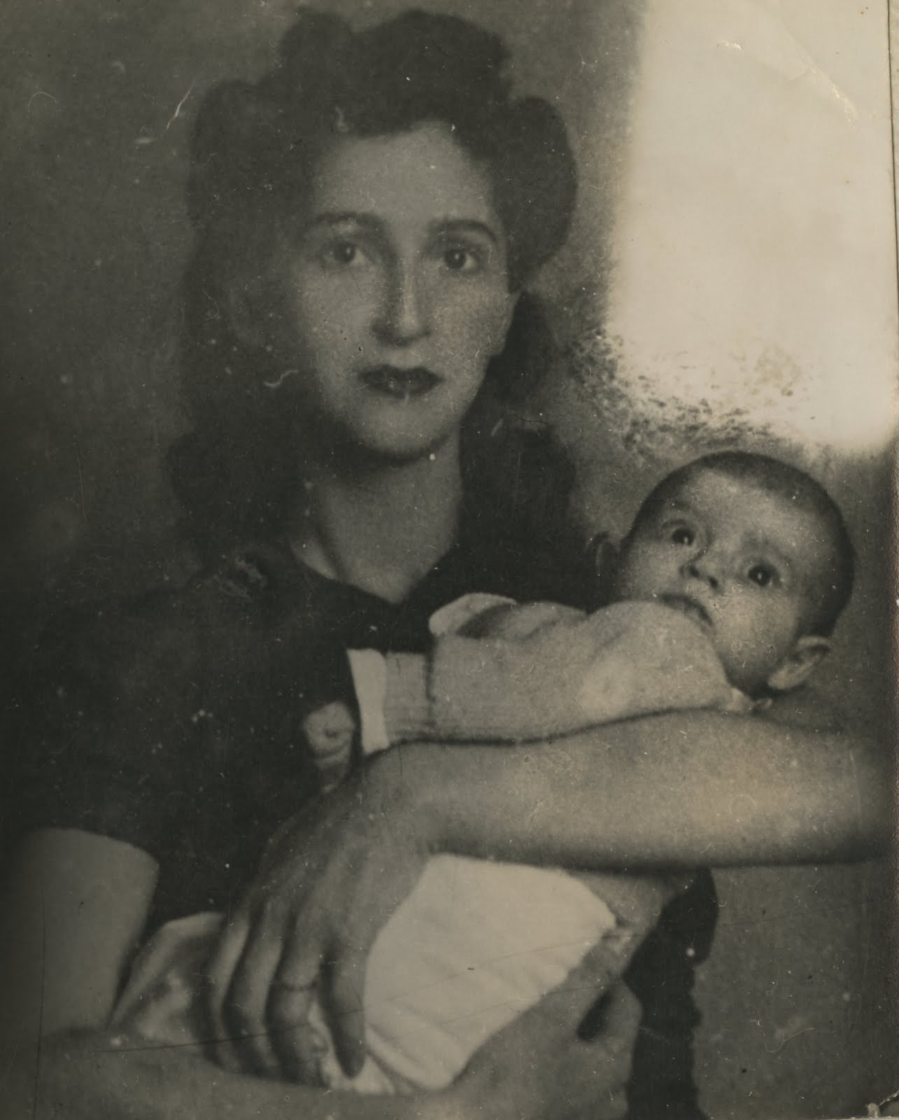Gerda Sifnaghel and daughter, Katja -- November 1941