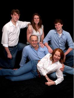 Back row (L - R)_  Adam, Madelyn & Max Grunewald;  Front_  Fred & Jerri Grunewald (nee Ungerleiter)