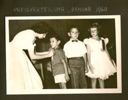 Peggy Grunewald (far right) _ Escuela Americano -- 1960, Guayaquil