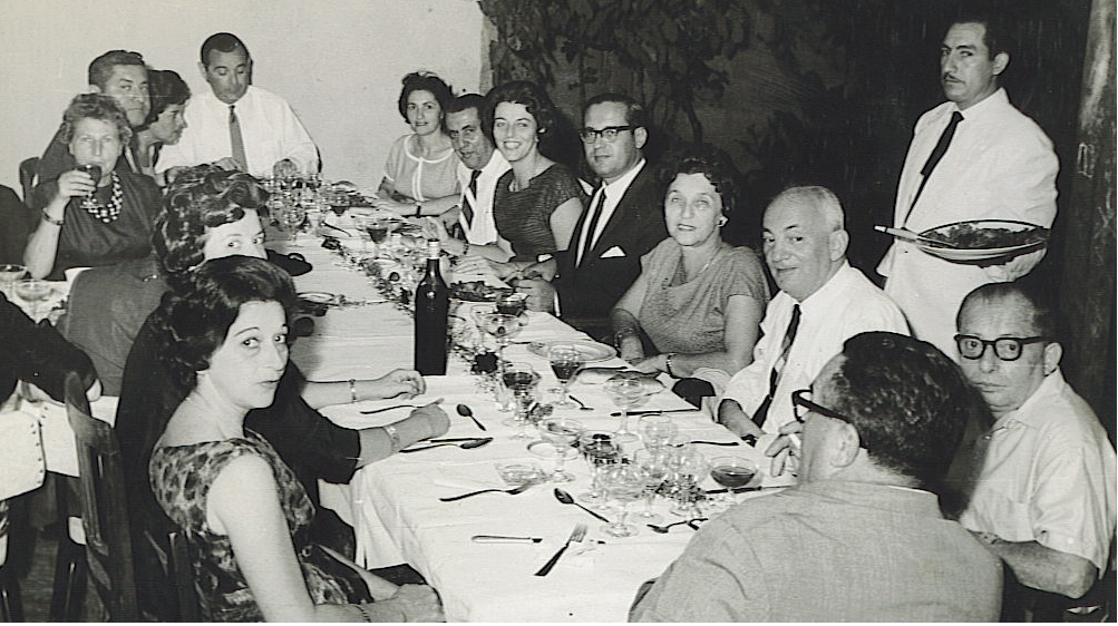 From left front, clockwise around table_ Gerda Sifnaghel (nee Gumpel), Edith Koppel (nee Wellisch),