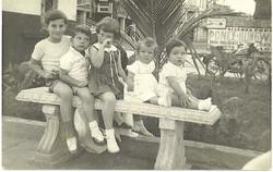 Cousins (from left)_  Fred Grunewald, Tom Koppel, Peggy Grunewald, Jeanny Koppel, Ralph Grunewald --