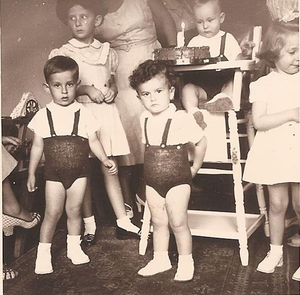 Gabi Alexander's first bithday party, July 1952, Guayaquil -- I'm sitting on the chair, in the middl