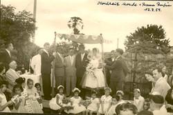 Marriage of schaliach Moshe Rubin to his wife, Rama _ the Centro Israelita Club -- July 12, 1959, Gu