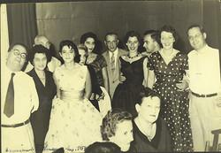 From left_ Manea Sifnaghel, Magda (_Moschi_) Koppel (nee Partos), John (_Aki_) Koppel, Katja Sifnagh
