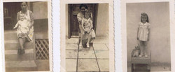 First two stages in my life_ Rumichaca 1938 (I don't know the maid's name), Casa Frutal with _Oschi_