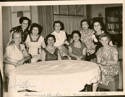 Farewell to the Hirsch Family -- Women's group of Centro Israelita (Magda Koppel in back row at far